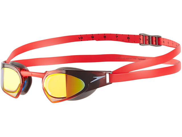 speedo Fastskin Prime Mirror Goggle USA Charcoal/White/Lava Red